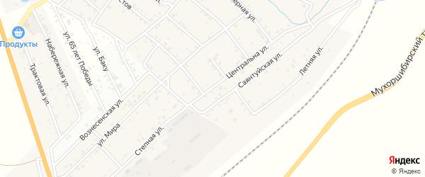 Степная улица на карте села Вознесеновка с номерами домов
