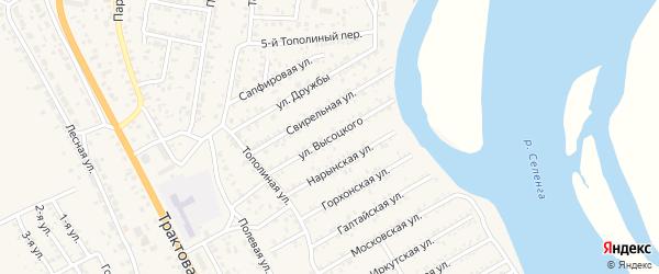 Улица В.Высоцкого на карте территории ДНТ Респекта с номерами домов