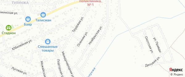 Ноябрьская улица на карте Улан-Удэ с номерами домов