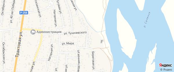 Улица Есенина на карте села Сотниково с номерами домов