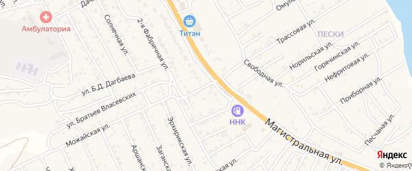 Западная улица на карте села Сотниково с номерами домов