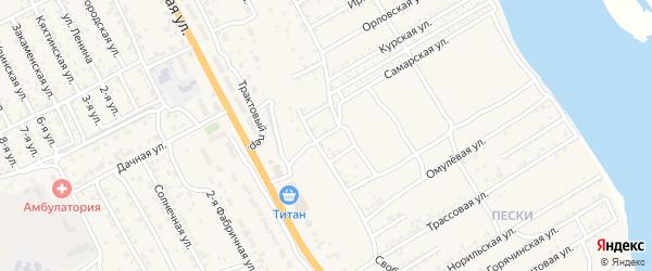 Стекольная улица на карте села Сотниково с номерами домов