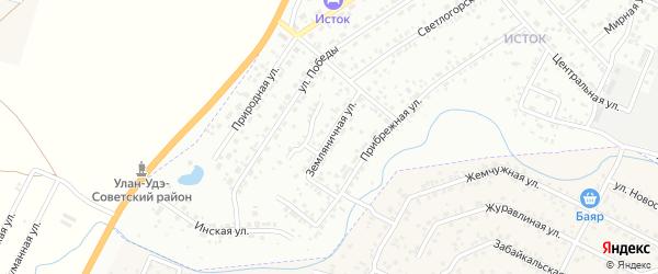 Земляничная улица на карте Улан-Удэ с номерами домов