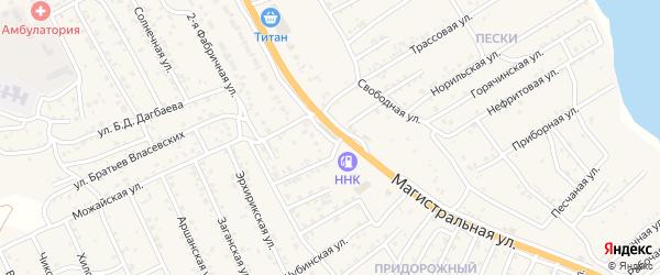 Квартал Придорожный Столичная улица на карте села Сотниково с номерами домов