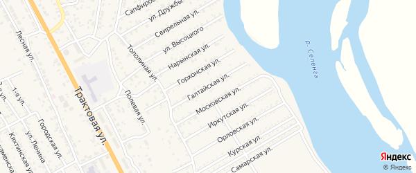 Улица Галтайская (ДНТ Респект) на карте села Сотниково с номерами домов