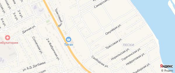 Линейная улица на карте села Сотниково с номерами домов