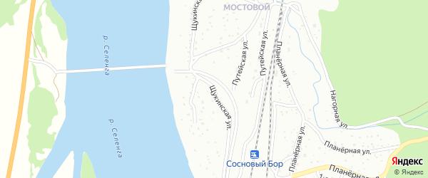 Щукинская улица на карте Улан-Удэ с номерами домов
