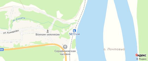 Километр 5613 на карте поселка Еловка с номерами домов