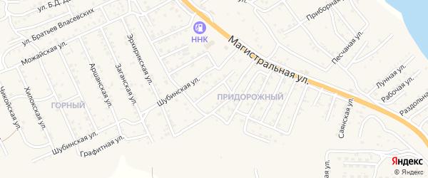 Квартал Придорожный Сибирская улица на карте села Сотниково с номерами домов