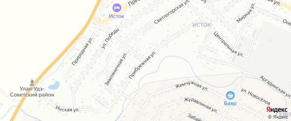 Прибрежная улица на карте Улан-Удэ с номерами домов