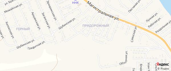 Квартал Придорожный Высотная улица на карте села Сотниково с номерами домов
