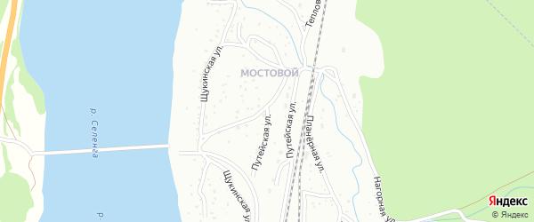 Улица Путейская (ст. Мостовой) на карте Улан-Удэ с номерами домов