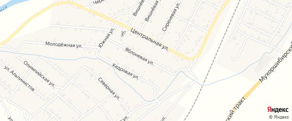 Черемуховая улица на карте дачного некоммерческого партнерства ДНТ Урожая с номерами домов
