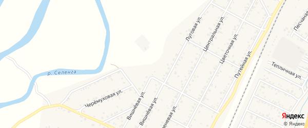 Луговая улица на карте дачного некоммерческого партнерства ДНТ Саянтуй с номерами домов