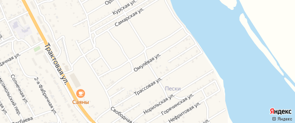 Омулевая улица на карте села Сотниково с номерами домов