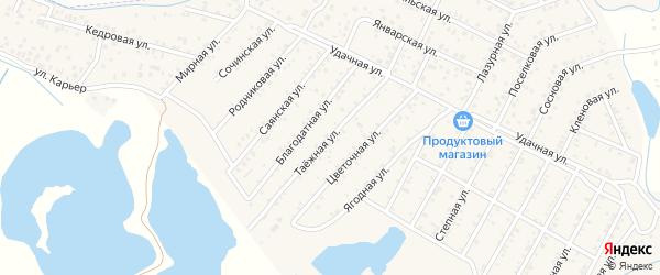 Улица Таежная квартал Северный на карте села Сужа с номерами домов