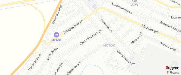 Светлогорская улица на карте Улан-Удэ с номерами домов