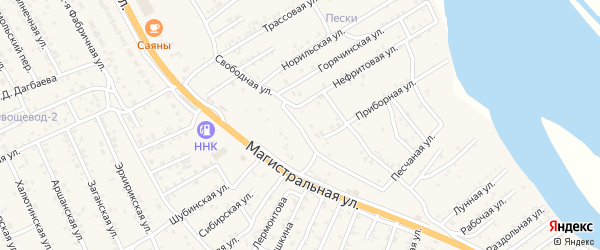 Свободная улица на карте села Сотниково с номерами домов