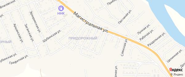 Квартал Придорожный Купеческая улица на карте села Сотниково с номерами домов
