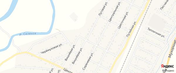 Вишневая улица на карте дачного некоммерческого партнерства ДНТ Урожая с номерами домов