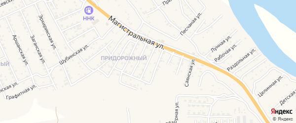 Квартал Придорожный Профсоюзная улица на карте села Сотниково с номерами домов