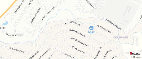 Журавлиная улица на карте Улан-Удэ с номерами домов