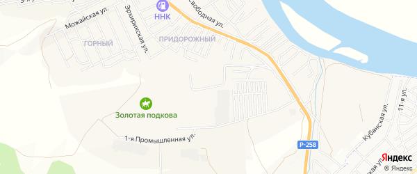 Территория ДНТ Благодатный на карте села Сотниково с номерами домов