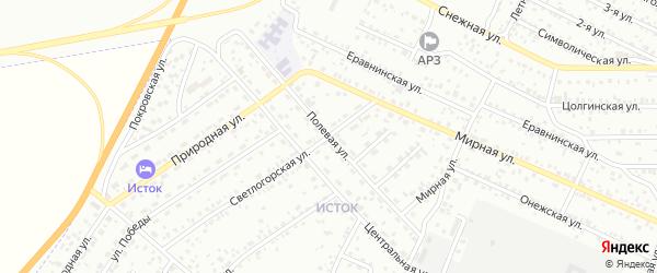 Полевая улица на карте Улан-Удэ с номерами домов