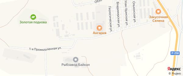 Промышленная 1-я улица на карте села Сотниково с номерами домов