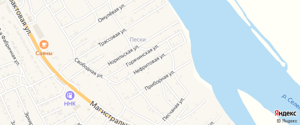 Нефритовая улица на карте села Сотниково с номерами домов