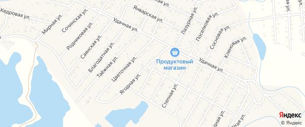 Улица Жемчужная квартал Северный на карте села Сужа с номерами домов