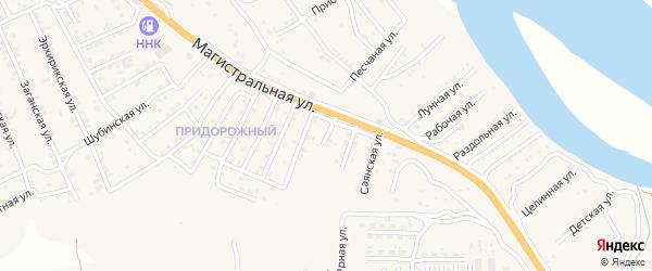 Квартал Придорожный Пригородная улица на карте села Сотниково с номерами домов