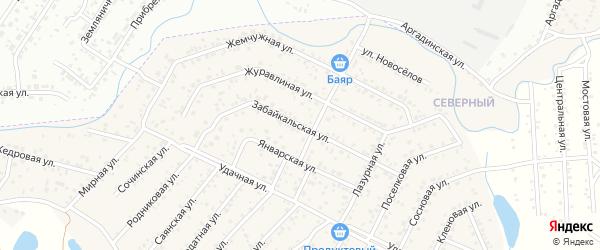 Забайкальская улица на карте села Сужа с номерами домов