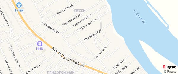 Приборная улица на карте села Сотниково с номерами домов