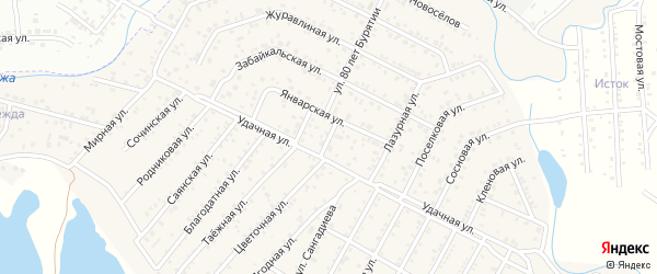 Улица Беловежский на карте села Сужа с номерами домов