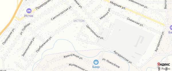 Ковыльная улица на карте Улан-Удэ с номерами домов