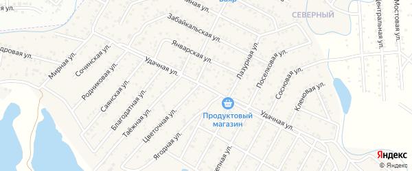 Улица Удачная квартал Северный на карте села Сужа с номерами домов