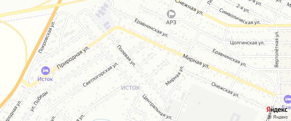 Полевой переулок на карте Улан-Удэ с номерами домов
