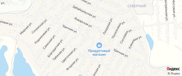 Удачная улица на карте Улан-Удэ с номерами домов