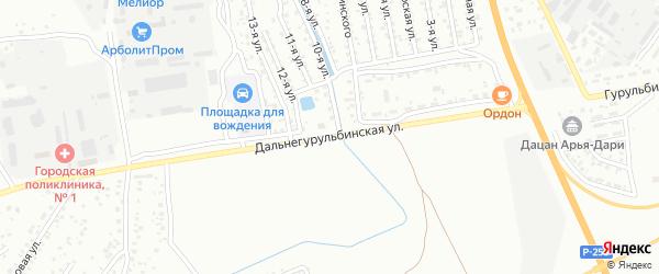 Дальнегурульбинская улица на карте Улан-Удэ с номерами домов