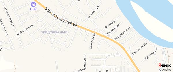 Квартал Придорожный Автомобильная улица на карте села Сотниково с номерами домов