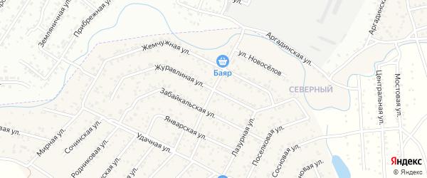 Улица квартал Северный 80 лет Бурятии на карте села Сужа с номерами домов