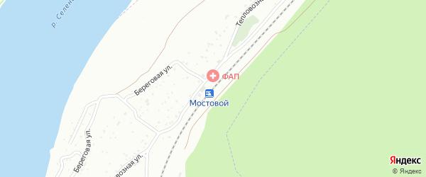 Железнодорожная улица на карте станции Мостовой с номерами домов