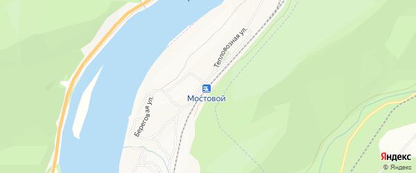 Береговое СТ на карте станции Мостовой с номерами домов