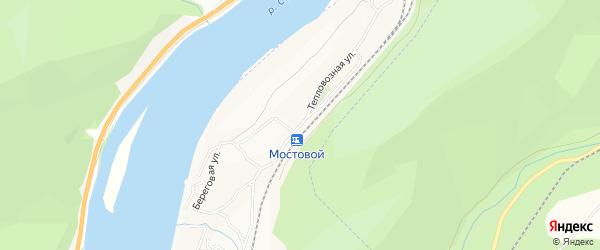 Тепловозная территория на карте Беговой улицы с номерами домов