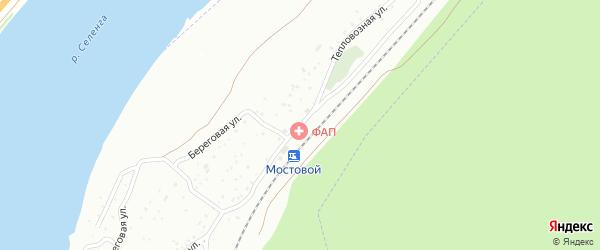Тепловозная улица на карте Улан-Удэ с номерами домов