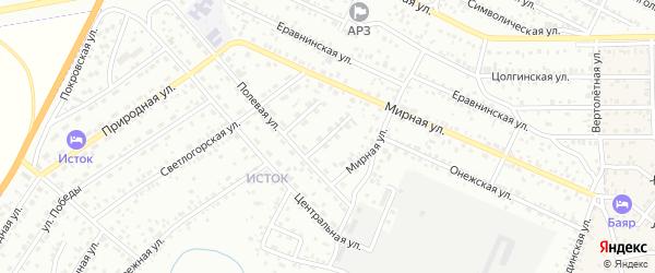 Мирный переулок на карте Улан-Удэ с номерами домов