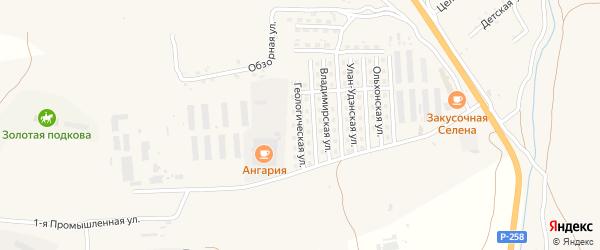 Геологическая улица на карте села Сотниково с номерами домов
