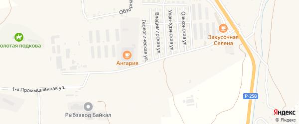 Промышленная улица на карте села Сотниково с номерами домов