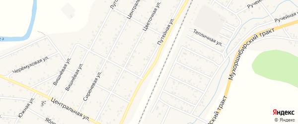 Путейная улица на карте ДНП Нижний Саянтуй с номерами домов